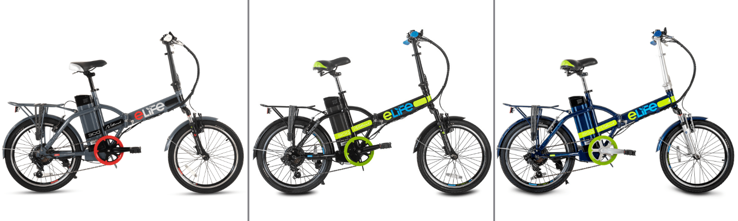 Elife Natural | A multi-speed folding electric bicycle designed for the urban commuter