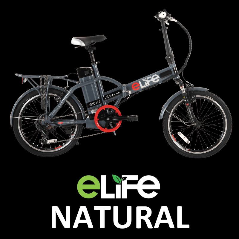 Elife Natural, a multi-speed folding electric bicycle designed for the urban commuter